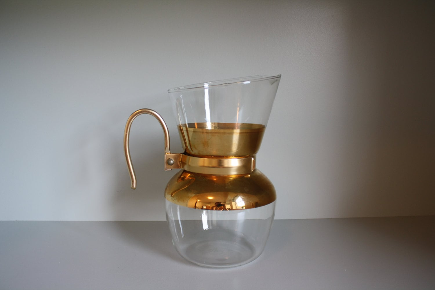 Curtis gold drip coffee maker with filter by AnnieGirlVintage