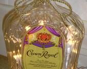 Vintage 1960 Crown Royal Canadian Whiskey Bottle Lamp