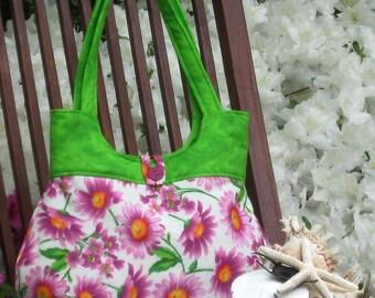 Pink Daisy summer handbag