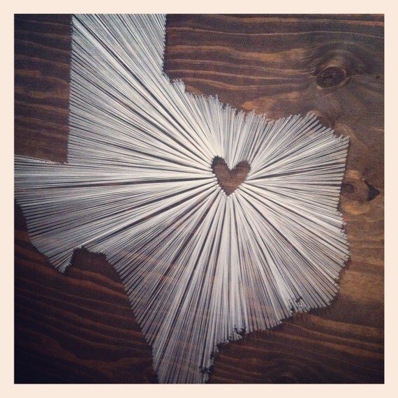 30x30 - State String Art - Texas - Wall Hanging - Home Decor
