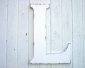 "Wooden Letters Distressed Wedding Decor 24"" L White Shabby Chic Vintage Style"