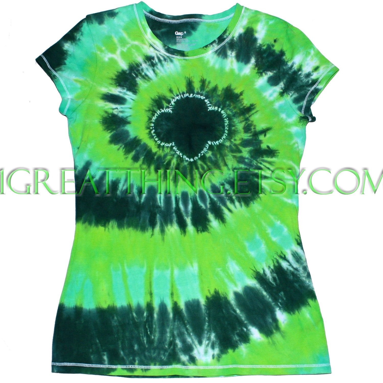 Girl scout trefoil tie dye t shirt ready to ship womens and for Girl scout troop shirts