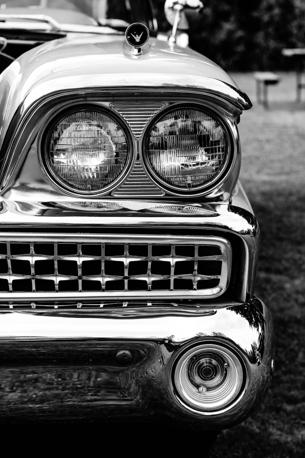 Classic Car Black and White Photography
