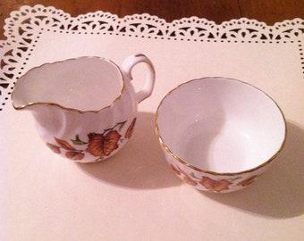 Vintage Adderley Creamer and Sugar Bowl