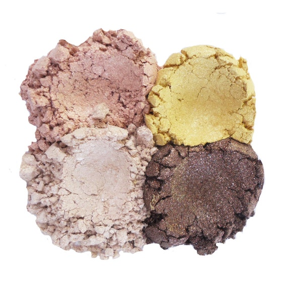 15% OFF - 4pc ROMANCE Eyeshadow Collection Mineral Makeup Eye Color Set Natural Vegan Minerals
