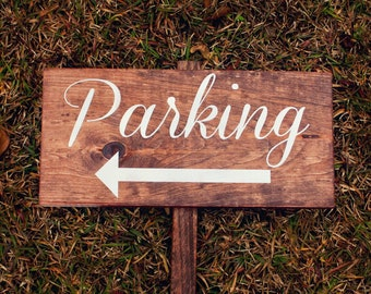 Ceremony Parking Wedding Sign - Reclaimed Wood WS-73