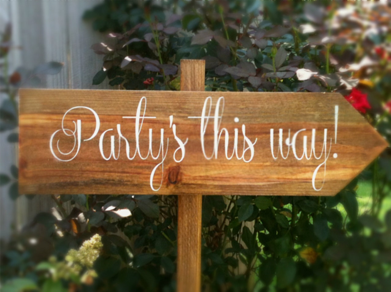 Wedding Sign Wedding Wooden Sign Party's This Way WS-10