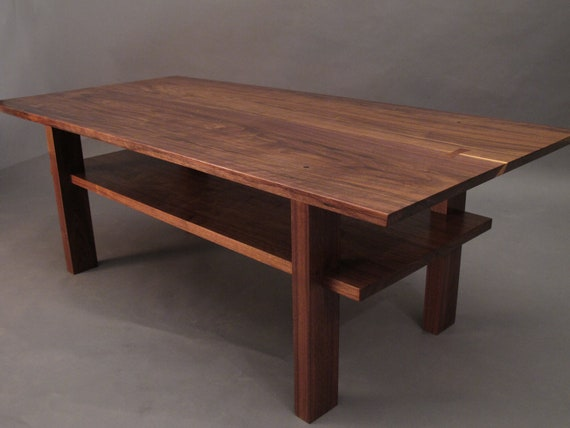 Walnut coffee table small wood tables for living room narrow for Narrow wood coffee table