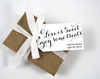 Wedding Favor Tag - Love is Sweet Enjoy some Treats - Candy Favors - Sweet Wedding Favor - Wedding Favor Ideas - Party Favor Tags - MEDIUM