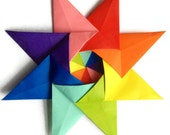 Origami Rainbow Kalami Star (Designed by Christine Blasek)