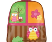 FREE PERSONALIZATION Embroidered Personalized Stephen Joseph Go Go Owl Backpack SJ-1201-76, School Bag