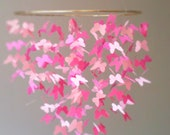 Pink Butterfly Crib Mobile. Nursery Decor, College Dorm Decor, Baby Girl Crib Mobile, Butterfly Mobile