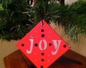 Set of 3 - JOY Design Christmas Holiday Ornament