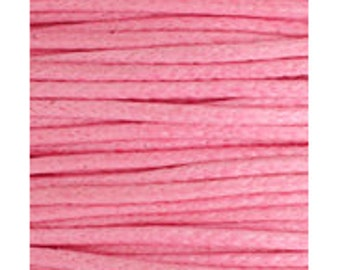 10M 0.7mm or 1mm PINK Waxed Cotton Cord, bracelet cord, vegan jewelry cord, Macrame Cord, Beading Cord, Necklace Cord