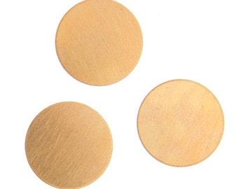 20) 1/2 inch 24G Brass Blanks, 13mm Brass Blanks, 1/2 inch Round Brass Blanks, Brass Stamping Blanks