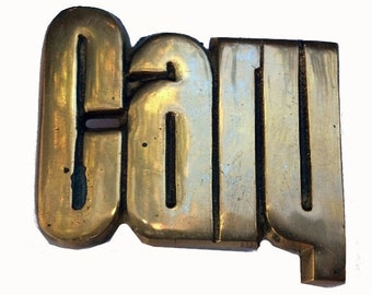 Vintage CARY Name Belt Buckle - Personalized