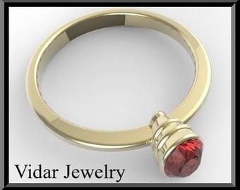 Engamenet Ring,Garnet engagement ring,Red engagement Ring,Solitaire Engagement Ring,Unique Engagement Ring, Yellow gold,Custom,Oval Ring