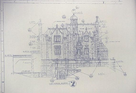 Walt disney world haunted mansion elevation by blueprintplace for Haunted mansion blueprints
