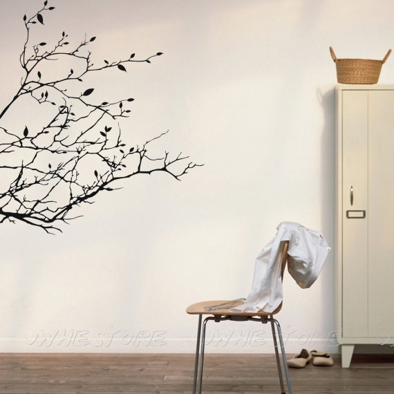 items similar to tree branch wall decals vinyl wall innovative stencils tree branches with leaves and love