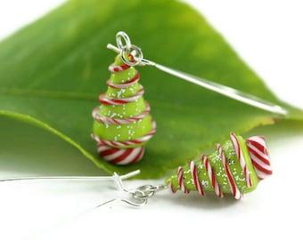 Christmas Earrings, Holiday Jewelry,  Christmas Jewelry, Holiday Earrings, Christmas Tree, Whimsical Unique Teacher's Gift Stocking stuffer