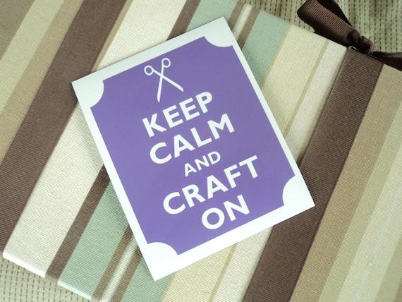 Keep calm craft on fridge magnet
