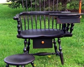 Items Similar To Windsor Writing Arm Chair With Cricket