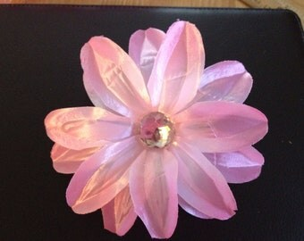5 Inch Pink Tropical Lily Flower Hair Clip