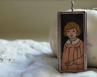 Pendant Girl Student Necklace Peter Pan Collar