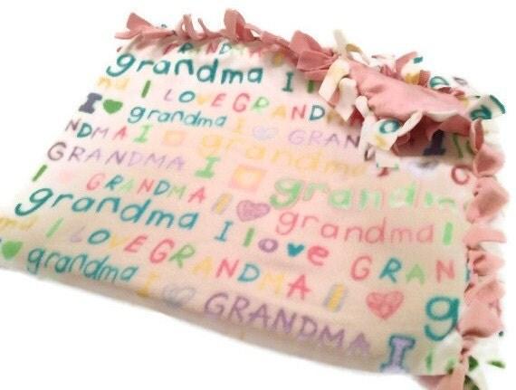 FREE SHIPPING - I Love Grandma No Sew Tie Blanket - Fleece ...