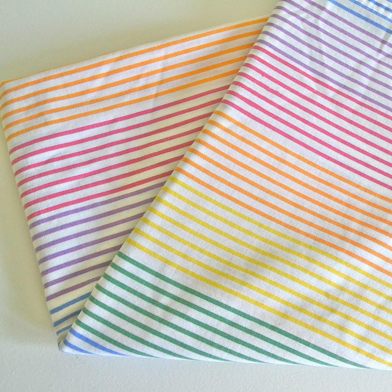 Rainbow Stripe Vintage Twin Bed Flat Sheet