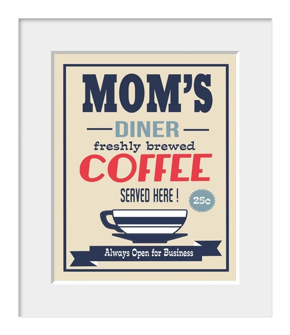 Items Similar To Kitchen Art, Coffee Poster, Typography