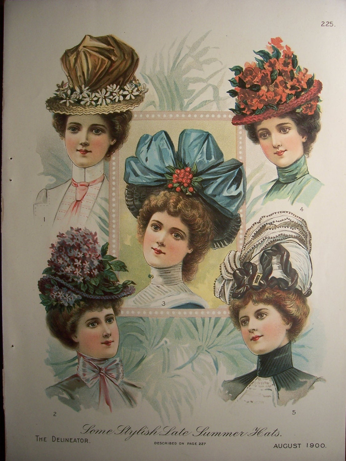 Victorian hats 1900s butterick pattern by vintagepapergallery