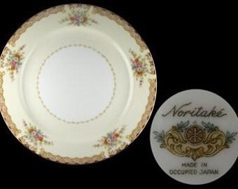 Vintage Noritake Mystery Dinner Plate - Occupied Japan