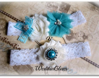 Vintage Bridal Garter Wedding Garter Set Toss Garter included Ivory with Rhinestones and Pearls Wedding  Bridal garter Victorian garter