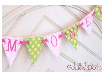 Fabric Birthday Banner - Free Personalization