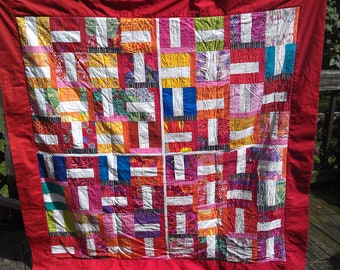 Handmade All Fired Up Roll-Up Travel Quilt Blanket