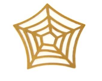 12 pcs of brass spider web filigree charm-30x30mm-1579-raw brass