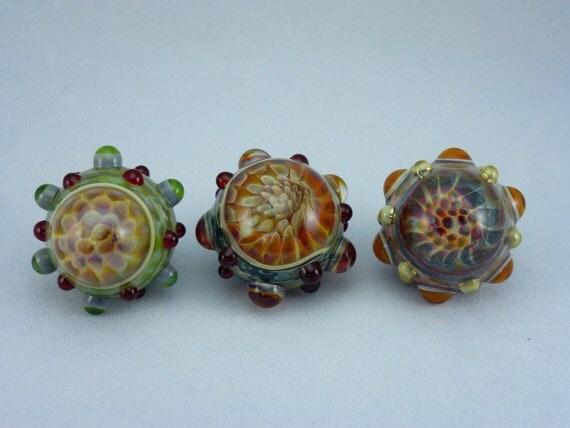 Boro Glass Magnet Trio - Orange Optic