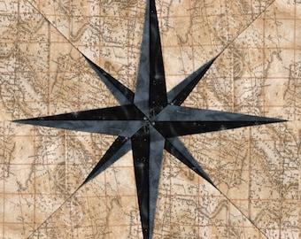 Compass Needle - Paper Piecing