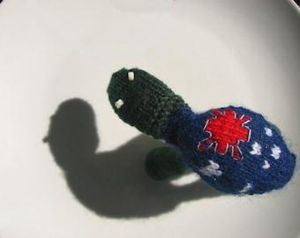 Knitted Stuffed Animal: Anna the Australian Western Swamp Tortoise Toy / Plushie