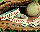 CLASSIC STYLE - Baseball Bracelet - Baseball Seams Bracelet - Leather Baseball Bracelet - Classic Baseball - Baseball Mom - Baseball Party