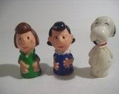 RARE Vintage Peanuts Finger Puppets