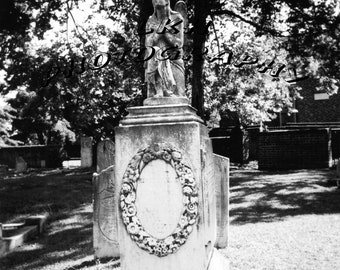 Angel In The Graveyard Photograph