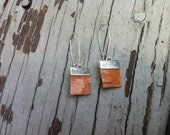 Small Birch Bark Earrings (natural bark and silver)