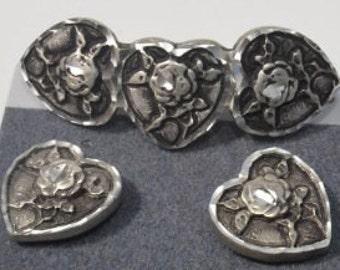 Barrette and Earrings