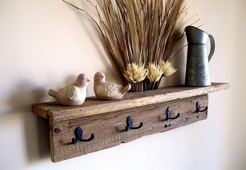 wall hung coat rack shelf hat rack key rack towel rack. Black Bedroom Furniture Sets. Home Design Ideas
