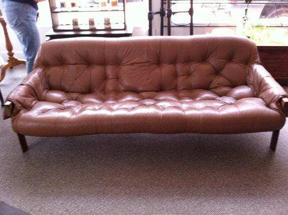 Vintage Percival Lafer leather sofa.