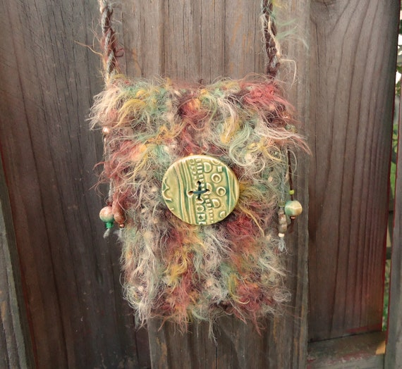 Crochet Shoulder Bag Autumn Forest Colors Small Soft and Comfortable Free Shipping and Holiday Coupon
