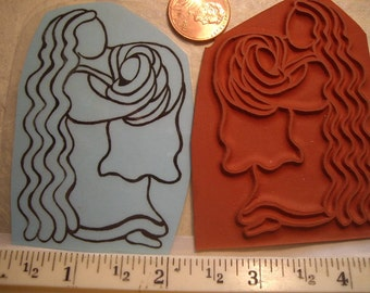 American  Indian  baby spiritual rubber stamp  un-mounted scrapbooking rubber stamping