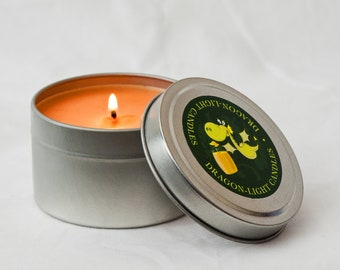Custom Soy Wax  Candle in Small Travel Tin (170g)